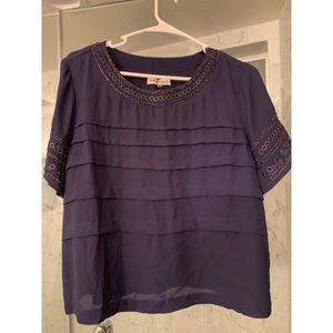 Navy Blue beaded top